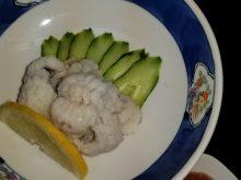 ハモの湯引き、天ぷら
